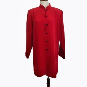 Clio vintage kimono tunic jacket Chinese red